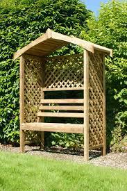 bench arbour benches wooden anchor fast devon corner arbour