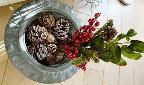 christmas decoration ideas christmas balls pine cones and moss