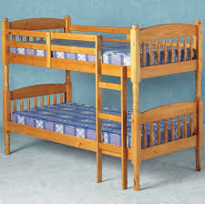 Albany Solid Pine Bunk Bed Splits Into  Single Bedframes - Pine bunk bed