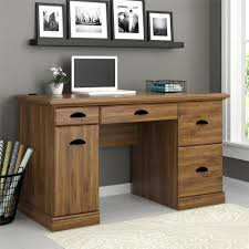 Office Table Furniture Better Homes And Gardens Computer Desk Brown Oak Walmart Com
