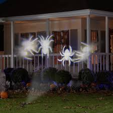 lightshow projection whirl a motion spiders white by gemmy