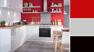 cuisine blanche mur framboise cuisine mur couleur idées décoration intérieure farik us