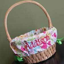 easter basket liners personalized light blue gingham plaid personalized monogrammed easter basket