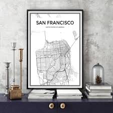 san francisco map painting buy san francisco paintings and get free shipping on aliexpress