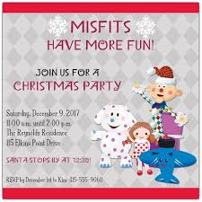 Christmas Party Invitations With Rsvp Cards - misfit toys christmas party invitations paperstyle