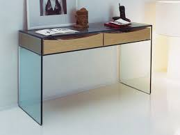 Glass Console Table Modern Console Table With Storage Gulliver Modern Glass Console