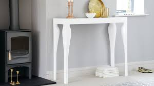 White Hallway Table Modern White Gloss Console Table Styling And Storage Uk
