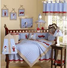 Firefighter Crib Bedding Truck Crib Bedding Collection