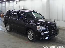 cars toyota black 2001 toyota kluger black for sale stock no 38847 japanese