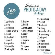 Challenge Instagram January 2018 Photo A Day Challenges Whimpulsive