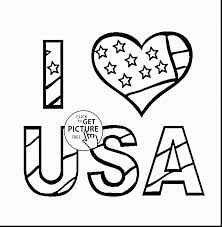 coloring pages usa flag