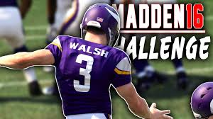 Nfl Challenge Flag Can Blair Walsh Kick A Field Goal Madden 16 Nfl Challenge