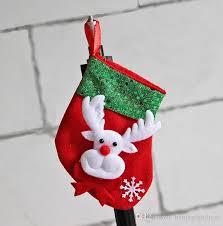 small lovely good hanging santa mini christmas stockings gift bag