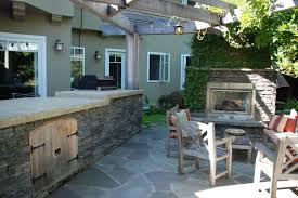 Irregular Stone Patio Irregular Stone Patio Patio Traditional With Stone Pavers Brown