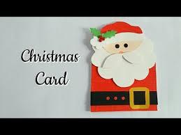diy santa christmas card how to make christmas greeting card