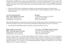 Military Police Job Description Resume by Professional Federal Resume Format Resumes 2017