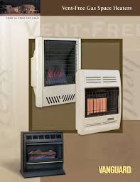 vent free gas space heaters