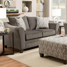 Loveseat Ottoman United Furniture Industries 6485 Transitional Loveseat With Wood