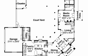 courtyard house plans u shaped house plans with courtyard l shaped e house plans