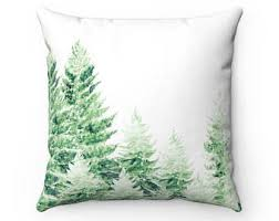 pine tree pillow tree throw pillow colorado decor rocky