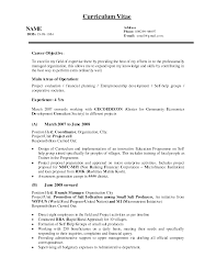 Cheap Resume Builder Doc Job Objective Samples For Resume Sample Resume With