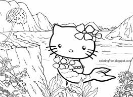 kitty mermaid coloring pages glum