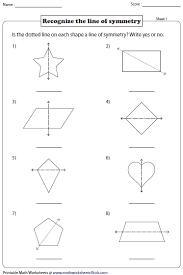 line pattern worksheet symmetry worksheets
