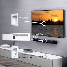 how to hide wires for wall mounted tv powerbridge unique solution for sound bar in wall wiring
