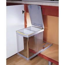 poubelle cuisine 20 litres poubelle coulissante tri selectif 20l accessoires de cuisines