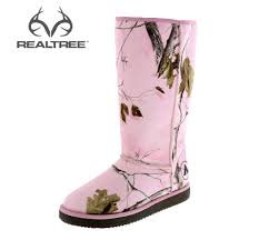 womens duck boots payless this laid back realtree pink camo boot from airwalk features