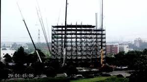 ark hotel construction time lapse building 15 storeys in 2 days