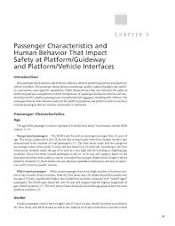 chapter 5 passenger characteristics and human behavior that