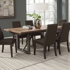 coaster spring creek rectangular dining table with leaf natural