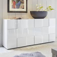 buffet design bahut design blanc laqué brillant sofamobili