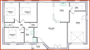 plan de maison plain pied 3 chambres plan de maison plain pied gratuit 3 chambres fresh plan maison 90m2