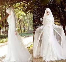 wedding dress muslim 2015 a line sleeves arab muslim wedding dresses white
