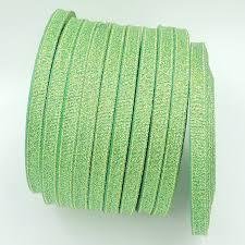glitter ribbon wholesale 25 yards roll 6mm green metallic glitter ribbon colorful gift