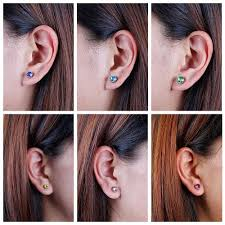6mm stud earrings bmc 10pc multicolor sparkling fashion