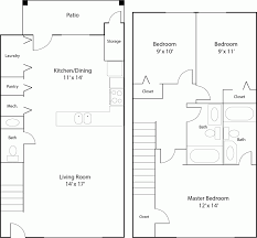 Canterbury Floor Plan by Floor Plans Canterbury Townhome Apartments