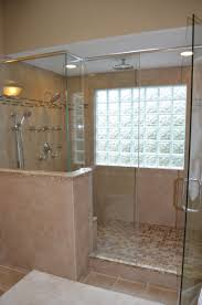 walk in shower with glass block windows bathroom ideas walk in shower with glass block windows