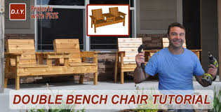 Wood Lawn Chair Plans Free by How To Make A Double Chair Bench Diy Patio Furniture Youtube