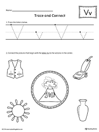 picture letter match letter v worksheet myteachingstation com