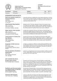 Resume Of It Student Resume
