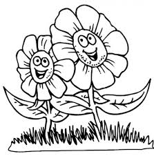 flower for kids coloring page free download