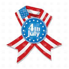 badge and ribbon with usa flag royalty free vector clip art image