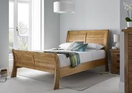 Oak Sleigh Bed Heritage Oak Sleigh Bed Wood Wooden Beds Beds