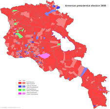 2008 Presidential Election Map by Armenia Presidential Election 2008 Electoral Geography 2 0