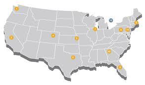 Seattle Washington Zip Code Map by Distribution Centers