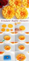 to make fondant ruffle flowers roxy u0027s kitchen