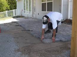 Paver Patios Installed In The Lovely Patio Ideas Patio Lights And Cost To Install Paver Patio